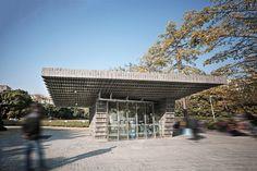yung ho chang's brick pavilion echoes the antithesis of urbanising china