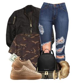 """Untitled #524"" by b-elkstone ❤ liked on Polyvore featuring adidas Originals, Puma, MICHAEL Michael Kors and House of Harlow 1960"