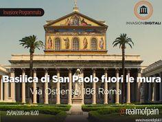 @realmofpain ci porta, il 25 aprile, alla Basilica di San Paolo fuori le mura (una delle 4 basiliche di Roma. Patrimonio UNESCO)