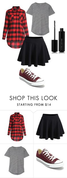 """""""Untitled #34"""" by rdeveau on Polyvore featuring WithChic, Madewell, Converse and Marc Jacobs"""