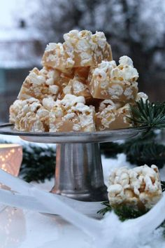 klingskitchen.blogg.se Xmas Food, Popcorn, Fudge, November, Sweets, Table Decorations, Christmas, November Born, Xmas