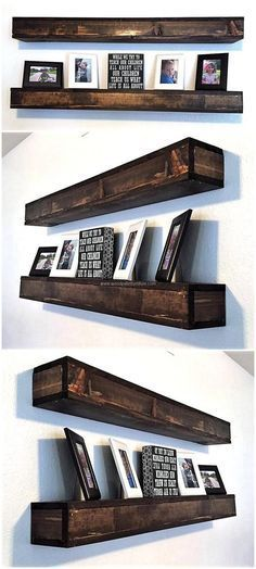 Shelves work well in the homes with less space as they are best to be created for adorning the area by placing the decorative items on them, so we have added this recycled wood pallet shelf idea to fulfill the decoration requirement. It will make the wall attractive for sure.