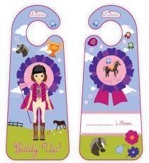 Printable Door Hangers|Lottie Printable Activities For Kids, Free Activities, Free Printables, Lottie Dottie, Felt Diy, Door Hangers, Pony, Flag, Racing