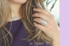 Sterling Punched Big Ring by AnaSalesJewelry on Etsy, €50.00