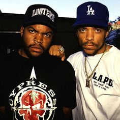 Ice Cube & Ice T / between both of them, one should have figured it's Iced