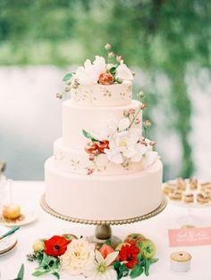 garden weddin cake // Lael Cakes.