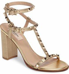 0d76d70363a Main Image - VALENTINO GARAVANI Rockstud Ankle Strap Sandal (Women) Ankle  Strap Sandals