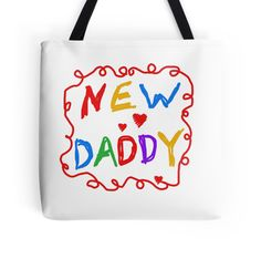 Multicolor Text New Daddy
