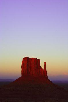Sunset in Monument Valley Navajo Tribal Park, Utah.