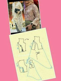 Kebaya Modern Hijab, Model Kebaya Modern, Kebaya Hijab, Batik Kebaya, Kebaya Muslim, Tunic Sewing Patterns, Coat Patterns, Clothing Patterns, Pattern Dress