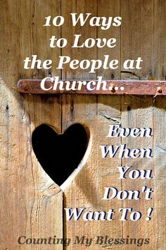 You can read tons of posts about loving or not loving the church, but the truth is it's not the church that frustrates us. It's the people...