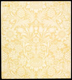 Sunflower', wallpaper by William Morris, 1879. Museum no. E.817-1915 ...