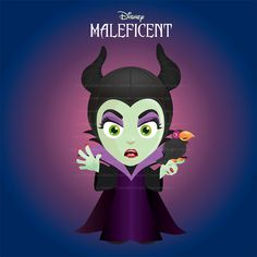 5 files - Disney Maleficent - Princess Villain - Download Digital Art Graphic Clipart Printable Scrapbooking cute Fairytale character party on Etsy, $33.33