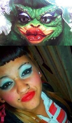 Nailed it ugly makeup, eyebrow makeup, funny quotes, funny memes, videos funny Ugly Makeup, Eyebrow Makeup, Funny Fails, Funny Memes, Hilarious, Videos Funny, Funny Quotes, Dankest Memes, Jokes