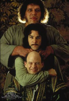 Inigo Montoya: That Vizzini, he can *fuss*.   Fezzik: Fuss, fuss... I think he like to scream at *us*.   Inigo Montoya: Probably he means no *harm*.   Fezzik: He's really very short on *charm*.   Inigo Montoya: You have a great gift for rhyme.   Fezzik: Yes, yes, some of the time.   Vizzini: Enough of that.   Inigo Montoya: Fezzik, are there rocks ahead?   Fezzik: If there are, we all be dead.   Vizzini: No more rhymes now, I mean it.   Fezzik: Anybody want a peanut?   Vizzini: DYEEAAHHHHHH.