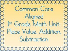 This big bundle of worksheets is a common-core aligned unit for first graders.  It features differentiated worksheets, which are good for special education students.  It also includes a unit test.  This bundle features following topics and standards: Addition Fluency with Single-Digit Numbers 1.OA.6 Subtraction Fluency with Single-Digit Numbers 1.OA.6 Matching Equations 1.OA.7 Solving Word Problems Using Addition & Subtraction 1.OA.1 Commutative Property Activity 1.OA.3 Addition of 3 ...