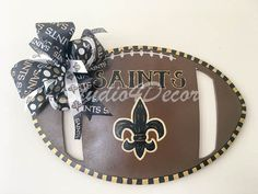 New Orleans Saints Football Door Hanger by Studio4Decor on Etsy
