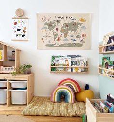 Playroom Design, Kids Room Design, Ikea Trofast Storage, Toddler Playroom, Ikea Playroom, Montessori Playroom, Ikea Kids Room, Modern Playroom, Ikea Nursery