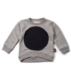 Nununu circle patch pullover - heather grey