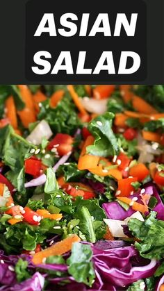 Best Salad Recipes, Kale Recipes, Chicken Salad Recipes, Healthy Dinner Recipes, Vegetarian Recipes, Simple Salad Recipes, Beetroot Recipes Salad, Asian Kale Salad Recipe, Veggie Asian Recipes