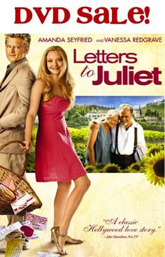 Letters to Juliet DVD Sale: $5.00!  {such a sweet movie!}