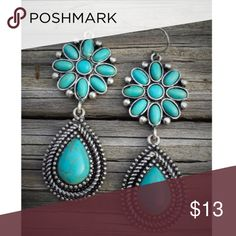 Silver & Turquoise Earrings Brand new silver & Turquoise earrings. Tags: country girl cowgirl jewelry boots western jewelry earrings Boho gypsy tribal Aztec Navajo southern southwest western rodeo cowgirl style Jewelry Earrings