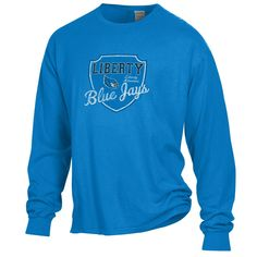 16577e67232620 Liberty Blue Jays Comfort Wash Shield Logo Long Sleeve T-Shirt by Gear