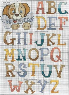 15 Best Fun Perler Beads Designs Easy To Get Started Cross Stitch Letters, Cross Stitch For Kids, Cross Stitch Baby, Cross Stitch Samplers, Cross Stitching, Cross Stitch Embroidery, Embroidery Alphabet, Embroidery Fonts, Plastic Canvas Letters