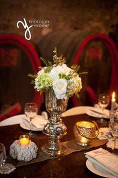 http://photosbyyvonne.net/ Photos by Yvonne: Toledo OH Wedding Photographer, vintage wedding decor in Mon Ami Winery wine cellar