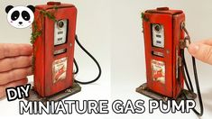 DIY ★ Miniature Abandoned Gas Pump