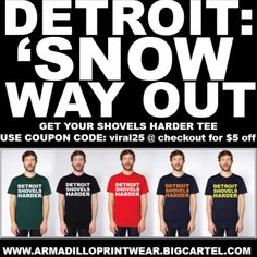 Get yours today. Detroit State, Michigan State Spartans, Detroit Red Wings, Troy, Plymouth, Winter Shirts, Great Lakes, Sport, Shovel