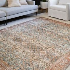 Shop Alexander Home Isabelle Traditional Vintage Border Printed Area Rug - On Sale - Free Shipping On Orders Over $45 - Overstock - 27283571
