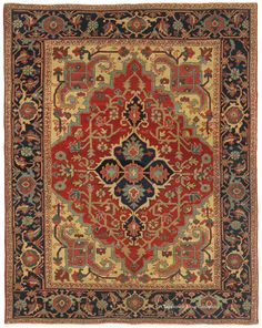 SERAPI, Northwest Persian 4ft 9in x 6ft 1in Late 19th Century http://www.claremontrug.com/antique-rugs-information/collecting/