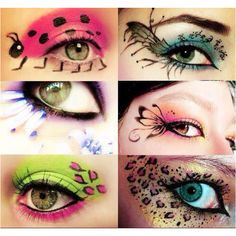 Different eyeshadow designs  Halloween maybe?