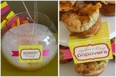 """I absolutely adore this baby shower theme that has been """"popping"""" up around the party world! """"She's About To Pop"""" is perfect for a baby. Pop Baby Showers, Boy Baby Shower Themes, Baby Shower Favors, Baby Boy Shower, Baby Shower Decorations, Baby Girl Announcement, Ready To Pop, Baby Wedding, Diy Food"""