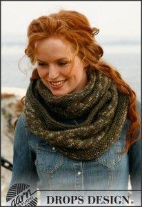 #Breien #Knitting | Colsjaal Breipatroon: Snake Halswarmer - Gratis sjaal breipatronen op http://www.sjaal-breien.nl