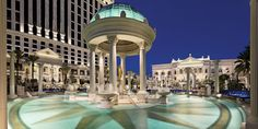 One of six pools, the iconic Temple Pool is the classic image of Caesars Palace swimming. #Jetsetter