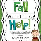 This 19 page packet is designed to help children with writing. Many students in first grade struggle with writing and writing letters correctly. This packet helps with these skills as well as copying information, forming ideas and using brain maps.
