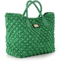 Dolce & Gabbana Green Raffia Shopper Bag (81.745 RUB) ❤ liked on Polyvore featuring bags, handbags, tote bags, raffia tote bag, raffia purse, shopper handbag, dolce gabbana purses and shopper tote