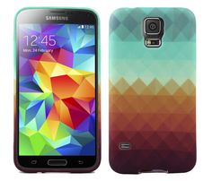 Samsung Galaxy S5 Pixel Waves Soft and Flexible TPU Silicone Case   www.nucecases.com   #samsung #nucecases