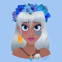 Kida Flower Crown by princessbeautycase.deviantart.com on @DeviantArt