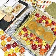 This floral dashboard is too pretty!  Kikki k planner, planner dashboard.