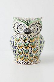 Handpainted Folk Owl Cookie Jar from Anthropologie. Shop more products from Anthropologie on Wanelo. Owl Cookies, Cookies Et Biscuits, Owl Pictures, Owl Pics, Diy Wedding Favors, Wedding Souvenir, Owl Crafts, Ceramic Owl, Vintage Cookies