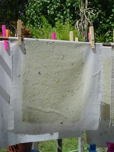 How to Make Paper from Recycled Materials | The Etsy Blog:  A more professional approach to paper making, using a handmade frame and mold.