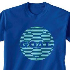 Soccer Tshirt Short Sleeve Soccer Goal
