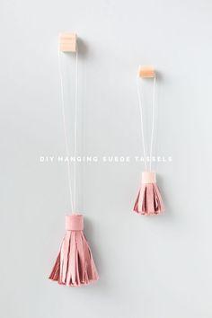 DIY Suede Tassels tutorial | @fallfordiy