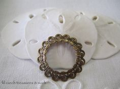 SAVE 10% use coupon code PIN10 Vintage look antique oxidized brass filigree ring, great for many different jewelry designs.  Quantity: 1  Size: 29mm    ITEM#: FDR1-V3-15    Please stop by my other Etsy s...