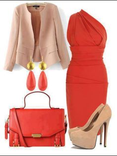 I love that red color!  more of a special occasions look than casual or work.