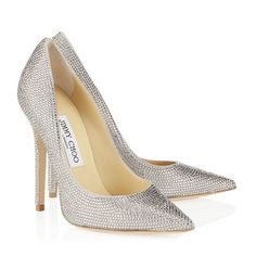 #Jimmy #Choo #Tartini -- why yes! These timeless suede stiletto pumps have been encrusted with pavé crystals for a truly dazzling effect. Only $2450 (sigh)