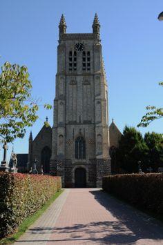 Belgium, West-Vlaanderen, town of Woesten, church